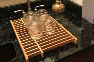 Sink w/ drying cupping therapy cups